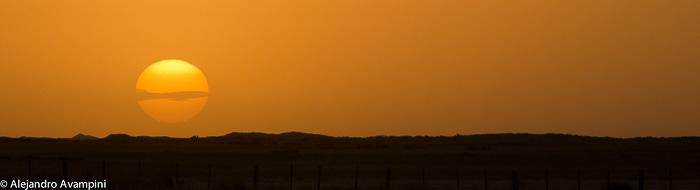 Sunset Peninsula Valdes - Argentine Patagonia